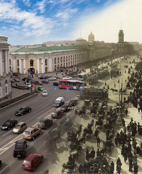 Невский проспект. Большой Гостиный двор и башня Городской думы Невский проспект, 33-35