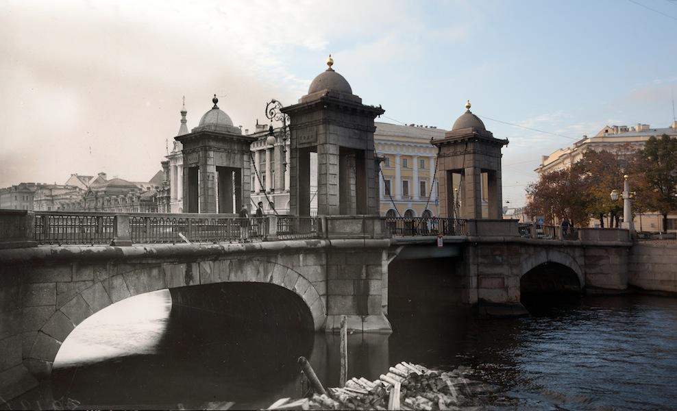 Набережная реки Фонтанки. Чернышев мост (с 1948 — мост Ломоносова)